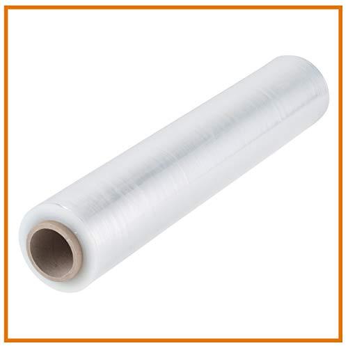 Stretchfolie - Palettenfolie - Wickelfolie transparent | 20 my | 300 m lang | dehnbar und reißfest| Packfolie Verpackungsfolie Plastikfolie (1)