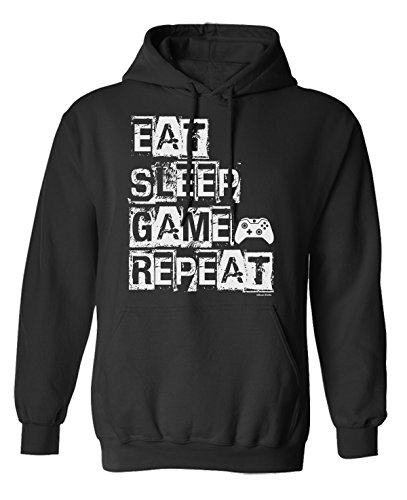 Eat Sleep Game Repeat Video Gamer Elija Sudadera con Capucha o suéter Hombres Mujer