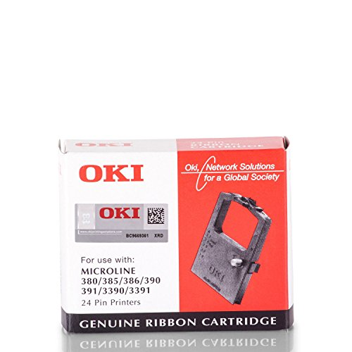 OKI 9002309Für Drucker–für Drucker Farbband (schwarz, Matrix-Punkt, 24-Pin, schwarz, ML380/385/3901/391/3390/3391, Behälter)
