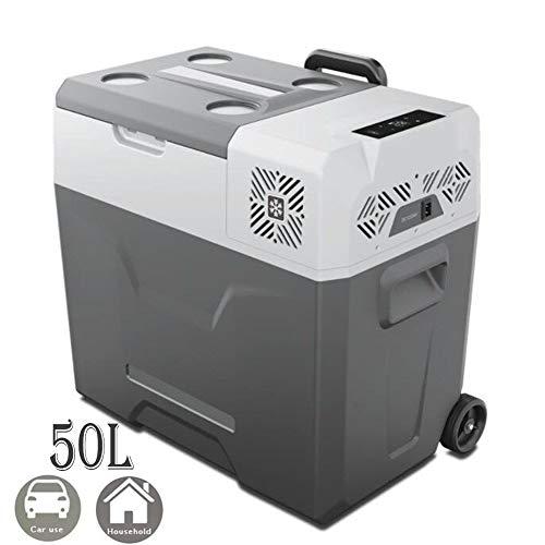 YADLCR 30 Liter Kompressor-Kühlbox Mini Kühlschrank Gefrierschrank Elektrische Kühlbox Elektrokühlbox 12V 24V /220V/240V Stecker für Camping, Auto oder LKW (Color : Car and Home Use, Size : 50L)