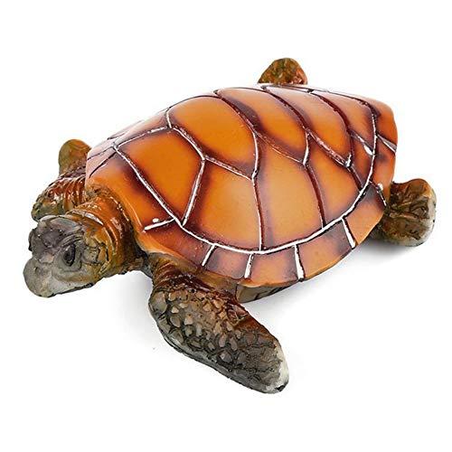 ZSLLO Kunstmatige Polyresin Waterschildpad schildpad schildpad aquarium ornament vis tank decoratie schildpad decor schildpad speelgoed onderwater decoratie