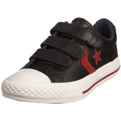Converse, Damen Sneaker, Schwarz - Schwarz - Noir - Noir/Rouge - Größe: 36