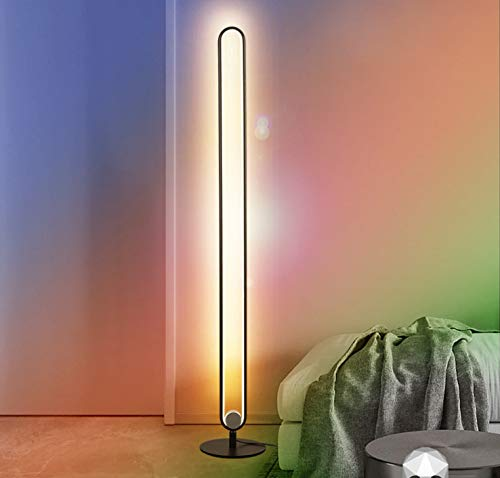 Ydshyth Stehlampe 20w Led Farbwechsel Stehlampe Mit Fernbedienung, Wohnzimmerhelligkeit Einstellbar Nordic Style Innenlampe Dekorative Beleuchtung 140cm