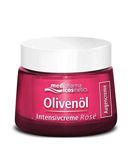 Olivenöl Intensivcreme Rosé Augencreme von Medipharma cosmetics Strafft & Mildert Falten Korrigiert Augenringe und Schwellungen