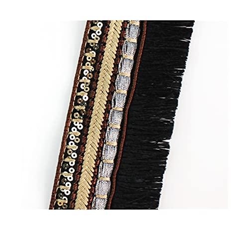 WAZG SYBLD 1 mètre Ruban de Couture de Dentelle golfière doré (Color : A2 Width 5.6cm)