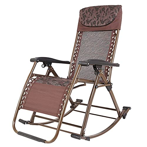 CCAN Składany fotel bujany na zewnątrz, wytrzymały metalowy bujak na patio, kemping, ogród i podwórko, na każdą pogodę, wsparcie 330lbs Interesting life