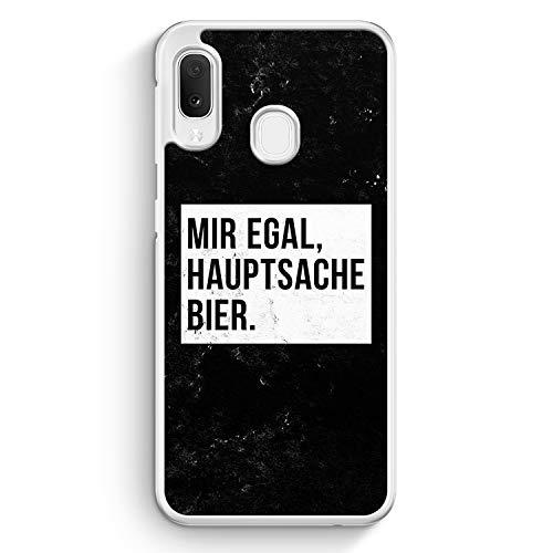 Mir Egal Hauptsache Bier - Hülle für Samsung Galaxy A20e - Motiv Design Cool Witzig Lustig Spruch Zitat Grunge - Cover Hardcase Handyhülle Schutzhülle Hülle Schale
