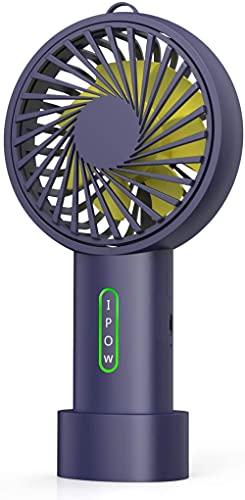 Mazu Homee Mini ventilador personal portátil portátil de 3 velocidades, ángulo ajustable, carga USB, ventilador de refrigeración de oficina, uso familiar, camping y viajes de Disney