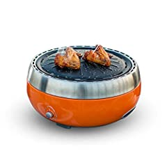 -304 stainless steel groove, rust, easy to clean, durable -The base is provided with a venting opening for full combustion and environmental protection - Small and portable, saving space and easy to carry - smoke-free design, healthy and enjoyable fo...
