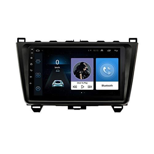 wansosuper Navegación por Satélite para Automóvil para M-a-z-d-a 6, Navegación GPS De 9 Pulgadas con Llamadas Manos Libres/Enlace Espejo/Bluetooth/Imagen Inversa, Pantalla Resistiva,Black