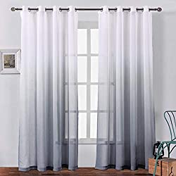 sheer curtains for boho room