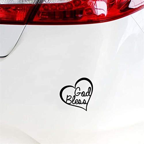 Autosticker 13 cm x 13 cm God zeem hart sticker auto raam muur bumper liefde Jezus Bijbel auto styling