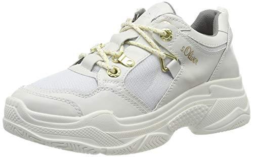 s.Oliver Damen 5-5-23624-23 Sneaker, Weiß (White Comb. 110), 38 EU