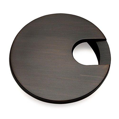 """Cosmas 50203ORB Oil Rubbed Bronze 2-1/2"""" Two Piece Zinc (Metal) Desk Grommet - 3"""" Overall Diameter"""