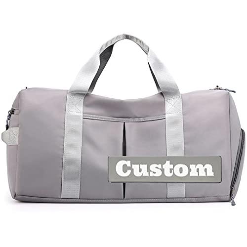 FireH NOME PERSONALIZZATO DONNA DONNA TOTE GLI Palestra Gym Gym Duffle Bag Impermeabile Scomparto bagnato Pocket Gym Tote Shoe (Color : Huise-xiao, Size : One size)