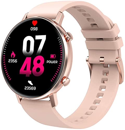 Relojes inteligentes multifuncionales para mujer y hombre/pulsera inteligente de 1.3 pulgadas con tacto completo/rastreador de fitness multideportivo/monitoreo del sueño-rosa