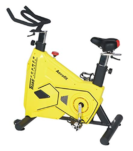 Aerofit Spin Bike AF-780 (Yellow/Black) | 12 kgs High Inertia Spin Wheel | Best Spin Bike for Gym Workout | Perfect Fitness Spin Bike for Exercise at Home | Best Indoor Spinning Bike |