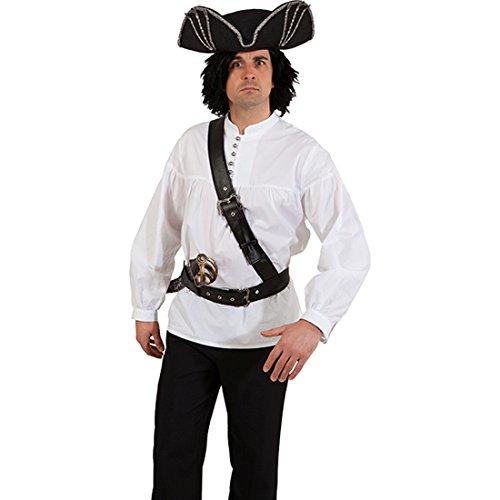 NET TOYS Piratengürtel Piraten Gürtel schwarz Seeräuber Gürtelband Pirat Schwerthalter Cowboy Pistolenhalter Piratenparty Schnallengürtel Karnevalskostüme Accessoires