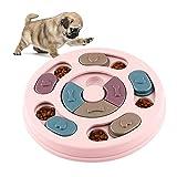 WELLXUNK Giocattolo Puzzle per Cani, Dog Puzzle Feeder, Gioco Rompicapo per Animale Domestico, Giocattolo Interattivo, per Cani, Cuccioli e Gatti, con Antiscivolo (Rosa)