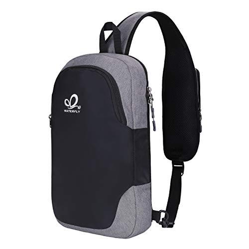 WATERFLY Crossbody Backpack Sling Bag: Lightweight Small Purse Shoulder Casual Daypack Men Women