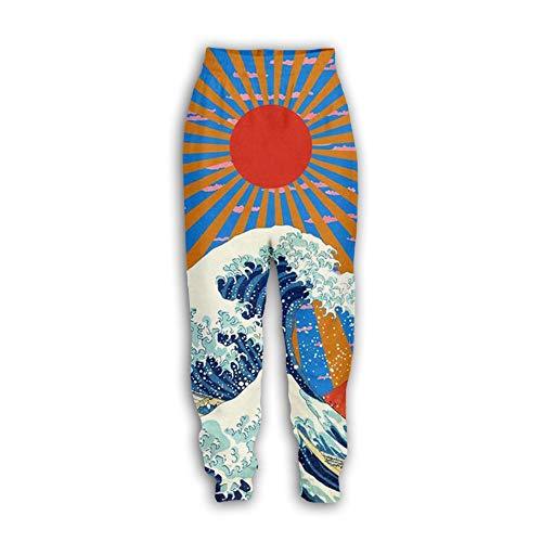 U/A Wave Pantalones Hombres 3D Ocio Grandes Hombres y Mujeres K7. 41-44.5