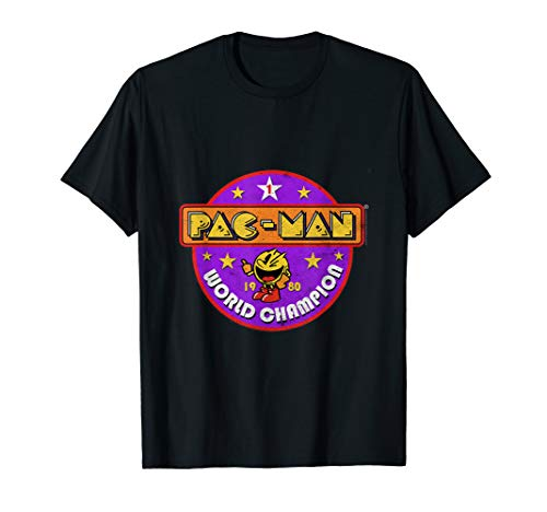 Pac-Man World Champion 1980 T-shirt for Adults or Kids, Sizes up to 3XL