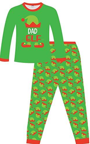 Pijama Elfo de Navidad Familia PJs - Dad Elf, Mamá Elfo grande, Elfo Pequeño w19 Verde Dad Elf XL