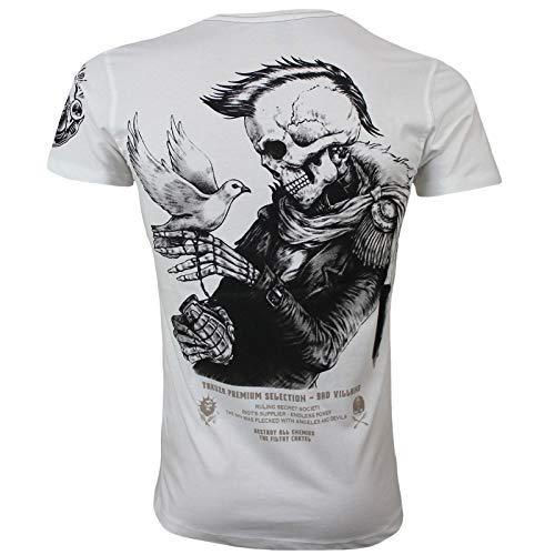 Yakuza Premium Herren T-Shirt 2819 Natur weiß
