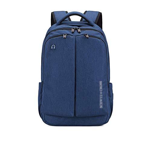 HUATAN Schulrucksäcke Junior High School Student Bag Herren-Rucksack mit großem Fassungsvermögen Korean Travel Double Shoulder Backpack Junge und Mädchen Schultasche (Color : Blue)