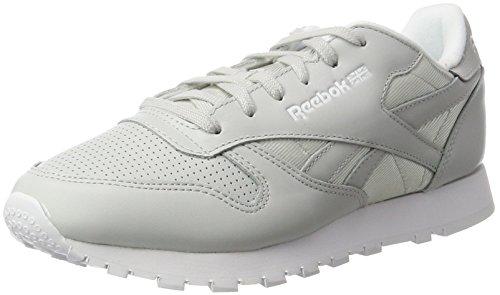 Reebok Damen Classic Leather FBT Sneakers, Weiß (Skull Grey/White/Silver Metallic), 36 EU