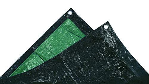 TEC HIT 882203 bâche ultra lourde de protection 240g/m² - 2x3m - Vert/Noir