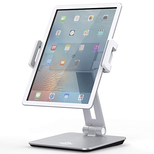 Tablet Stand Holder, KABCON Tightness Adjustable Multi-Angle Foldable Eye-Level Aluminum Solid Tablets Stands Dock for 4''-14''Tablets/Phone, iPad Series,Samsung Galaxy Tabs,Kindle Fire,Etc.
