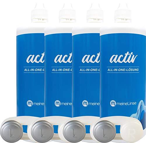 Kontaktlinsen Pflegemittel mit Hyaluron All-in-One Kombilösung Lensdealer 6x 360ml Kontaktlinsenflüssigkeit (6) - 2