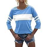 Dasongff Camiseta de manga larga para mujer, cuello redondo, sólida, elegante, blusa, túnica, blusa, camisa, blusa, blusa, camisa, blusa, camisa, blusa, camisa, blusa, camisa, blusa.