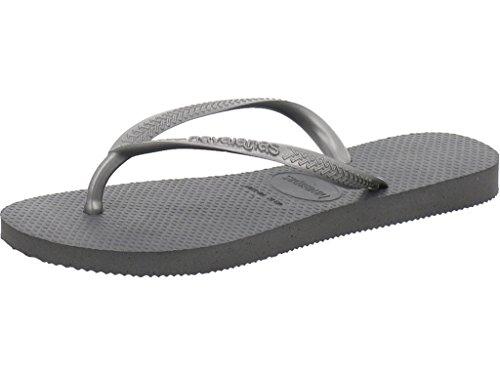 Havaianas Damen Slim Zehentrenner, Grau (Steel Grey), 33/34 EU