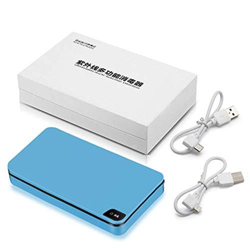 UV-reiniger Smartphone USB Portable UV Sterilizer fopspeen met aromatherapie Automatic Telephone bril,Blue