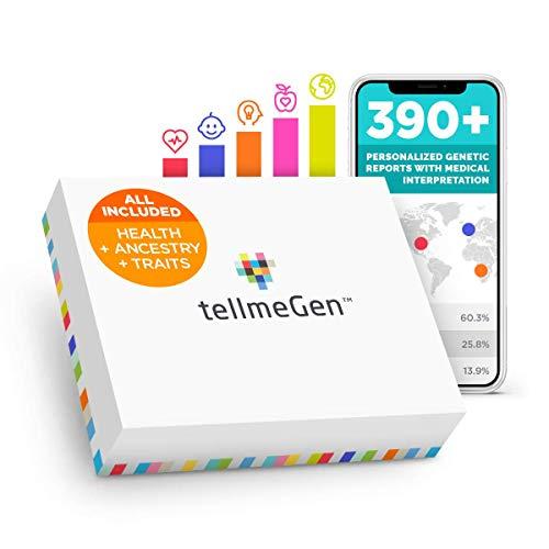 TellmeGen DNA Test Herkunft (Ancestry) + Gesundheit | +390 Online-Berichte: Der umfangreichste Gentest (ink. Ancestry und Ethnizitätstest) | kostenlose Updates