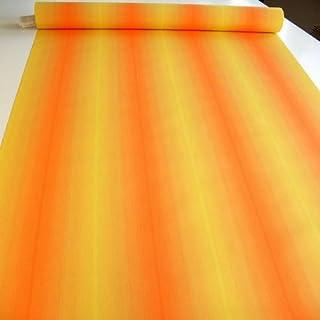 Markisen-Stoff in Orange/Gelb meliert - wasserdicht reißfest UV-Schutz 50 Meterware am Stück