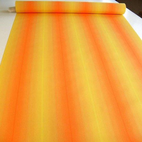 TOLKO Sonnenschutz Markisen-Stoffe als Meterware für Terrassen-Überdachung und Beschattung | mit UV-Schutz 50+ | Wasserdicht, Extra Langlebig - Ohne Ausbleichen - 120cm breit (Gelb Orange Meliert)