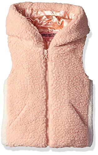 Urban Republic Big Girls Soft Berber Vest, Pink, 14