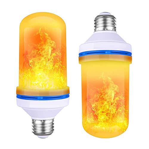 CHENC Smart Light, 6W E27 vlameffect LED-lamp met 4 modi flikkerend vuureffect decoratieve sfeerverlichting voor tuin thuis tafellamp Halloween