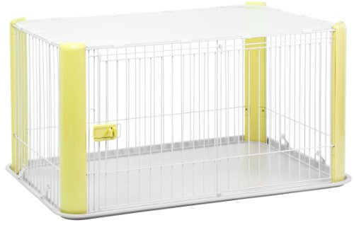 IRIS Large WireDog Crate with Mesh Roof, Yellow AmazonPets Basic Crates Dog from Selection Supplies Top
