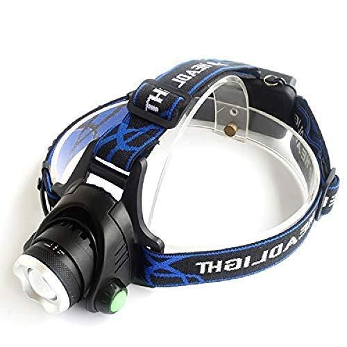 Linterna frontal para correr Nuevo XHP70 Linterna frontal LED Potente lente de zoom para faros delanteros 18650 Batería recargable Linterna para la cabeza Lámpara Antorcha,Paquete F