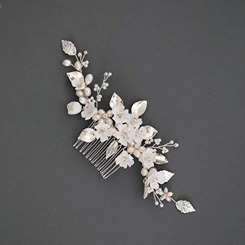 tocados boda,flores pelo,tocados pelo,adornos pelo,peinetas pelo,Accesorios de boda Flor de porcelana Floral...