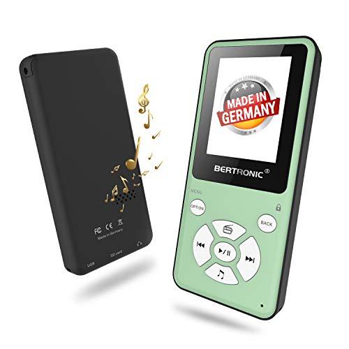 BERTRONIC Made in Germany Thor BC910 MP3 Player, 16 GB 2019 Bis 80 Stunden Wiedergabe Radio   Portabler Player mit Lautsprecher & wechselbarem Akku   Audio-Player mit Micro SD-Karte & Gürtelclip