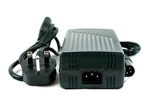 SLK Power Cargador de batería de 24 V 5 amperios para baterías recargables y sillas de ruedas. Conector de 3 pines apto para todas las baterías de plomo ácido selladas incluyendo AGM y gel