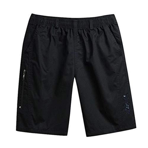 Makalon heren cargo-broek, sportbroek, heren, grote maat, werkbroek, voor mannen, slim, heren, casual, regular fit (zwart, XXL)