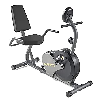 Marcy Magnetic Recumbent Bike with Adjustable Resistance and Transport Wheels NS-716R 11.00 x 22.00 x 31.00