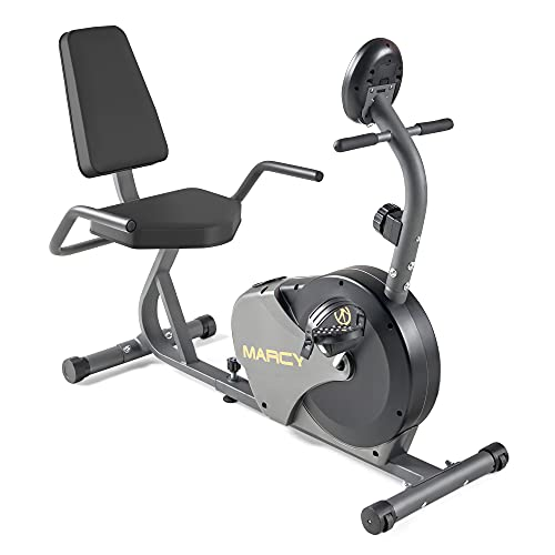 Marcy Magnetic Recumbent Bike with Adjustable Resistance and Transport...
