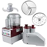 Robot Coupe R2N CLR Continuous Feed Combination Food Processor with 3-Quart Clear Polycarbonate...